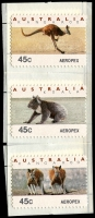 Lot 591 [2 of 2]:1994 Aeropex Koala & Kangaroo 45c Counter printed set of six. (6)