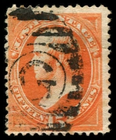 Lot 4491:1870-71 Without Grill Sc #152 15c bright orange.