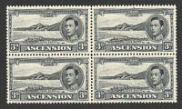 Lot 3654:1938-53 Pictorials SG #42a 3d black & grey P13½ block of 4, Cat £80+.
