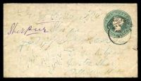 Lot 24415:1885 'PUTTIALLA STATE' Opt HG #B3 ½a green on white laid paper, size b, a few faults.