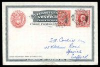 Lot 29445:1911 Centenary of Independence HG #18a 10c carmine on bluish white glossy paper, uprated with GB 1d KGV, minor tear at bottom on card, philatelically used in 1932 as ship mail.