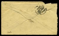Lot 24028 [2 of 2]:1908 Oval HG #B17 ½a yellow-green on white laid paper, opened roughly at left.