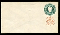 Lot 3788:1883 Curved 'JHIND STATE' HG #B1 ½a green on white laid paper, size b.