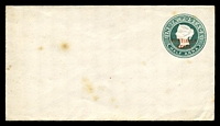 Lot 20800:1885 'PUTTIALLA STATE' Opt HG #B3 ½a green on white laid paper, size b, a few tone spots.