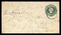 Lot 3900:1885 'PUTTIALLA STATE' Opt HG #B3 ½a green on white laid paper, size b, a few faults.