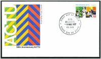 Lot 4236 [2 of 2]:1977 Anniversary ACTU set of 2, on 2 different official Australia Post covers.