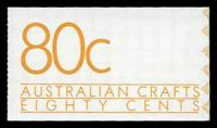 Lot 640:1988 80c Australian Crafts BW #B159 Harrison off-white paper, cover with brown UV reaction.