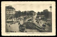 Lot 412 [1 of 2]:Germany: Corg Stlitke black & white PPC of 'Berlin. Potsdamer Platz mit neum Verkelsturm' view of trams at intersection, 1928 use to Belgium.