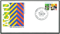 Lot 4593 [2 of 2]:1977 Anniversary ACTU set of 2, on 2 different official Australia Post covers.