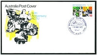 Lot 4593 [1 of 2]:1977 Anniversary ACTU set of 2, on 2 different official Australia Post covers.
