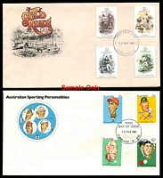 Lot 1075:1981 complete year set of Australia Post covers. (13)