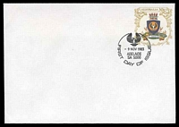 Lot 4213:1983 Coats of Arms ASC #E131, ASC #E131 30c South Aust, with Pictorial cancel FDI 'Adelaide 9 Nov 1983'.