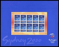 Lot 2829:1999 Sydney 2000 BW #2232w 45c x10 sheetlet PO Pack, Cat $10.