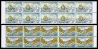 Lot 4023:1978 Cook's Northernmost Voyage SG #213-4 set of 2 in marginal blocks of 10.