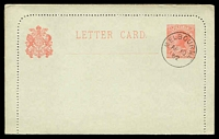 Lot 10232:1901 2d Rose Naish Stieg #A14 cancelled with CTO of AP10/02, halves gummed together.