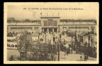 Lot 103:France: sepia PPC of 'Le Havre Le Palais des Expositions Cour de la Republique', view of the entrance.