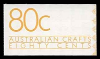 Lot 432:1988 Australian Crafts BW #B160 80c CPL paper.
