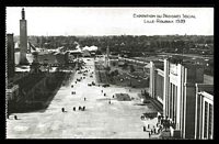 Lot 458:France: H Chipault Real Photo black & white PPC of 'EXPOSITION DU PROGRÈS SOCIAL LILLE-ROUBAIX 1939' view of the street of expo.