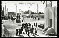 Lot 67:France: H Chipault Real Photo black & white PPC of 'EXPOSITION DU PROGRÈS SOCIAL LILLE-ROUBAIX 1939' view of people in the street of expo.
