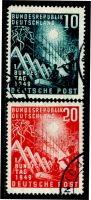 Lot 22720:1949 Bonn Parliment Mi #111-2 set of 2, Cat €55.
