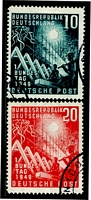 Lot 4005:1949 Bonn Parliment Mi #111-2 set of 2, Cat €55.