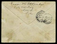 Lot 4584 [2 of 2]:1901: use of stampless OAS cover cancelled with 'ARMY.P.O.52/JA20/01/·S.AFRICA·' (Springfontein), 'LC[??]/PAID/P/10 ??' cds in red with arrival double circle 'ALDERSHOT/8AM/FE11/01/-+-' & 'FAREHAM/5.15PM/FE11