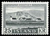 Lot 3778:1957 Bessastadir SG #349 25kr black, Cat £26.