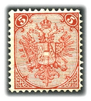 Lot 19574:1879-98 Lithographed Arms SG #9 5kr rose-red P12, Cat £70, creased.