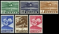 Lot 23447:1948 Hekla SG #280-86 set of 7, Cat £85, 12a value hinged.