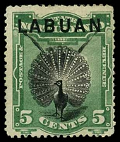 Lot 3886:1894-96 Pictorials SG #65 5c black & green, Cat £32.