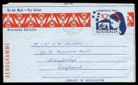 Lot 888:1964 10d Christmas BW #A22 cancelled by Frankston machine of 7JAN1965 & addressed to England.