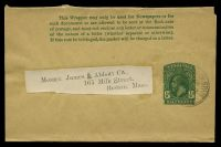 Lot 28990:1915 KGV HG #1 ½d green on buff, very lightly cancelled with 'G.P.O.