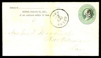 Lot 4511:Ozark, Arkansas: 'OZARK/OCT/23/ARK' on 1870s 3c green on buff envelope.
