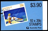 Lot 3726:1989 $3.90 Fishing BW #B163 CPL paper P14x14.4, Cat $12, full perfs on left side.