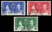 Lot 4112:1937 Coronation SG #137-9 set of 3, Cat £10.
