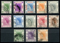 Lot 4201:1954-62 QEII SG #178-90 short set to $5 (13), Cat £12.