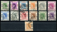 Lot 3855:1954-62 QEII SG #178-90 short set to $5 (13), Cat £12.