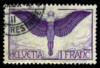 Lot 4198:1924-36 Air SG #327 1f dark lilac, normal paper, Cat £25, small shallow thin at lower right.