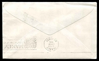 Lot 28491 [2 of 2]:Niutao: double-circle 'NIUTAO/*/12MR/76/TUVALU' on 5c canoe on Simpson cover.  PO c.1918.