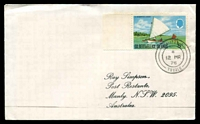 Lot 28491 [1 of 2]:Niutao: double-circle 'NIUTAO/*/12MR/76/TUVALU' on 5c canoe on Simpson cover.  PO c.1918.