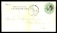 Lot 28750:Ozark, Arkansas: 'OZARK/OCT/23/ARK' on 1870s 3c green on buff envelope.