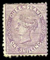 Lot 1637:1879-80 Sideface Wmk 2nd Crown/Q SG #145 1/- pale lilac, Cat £75, small thin at BRC.