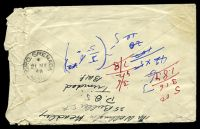 Lot 28944 [2 of 2]:Woodbrook: 'WOODBROOK/19MAY48B/TRINIDAD', Proud #D4, cancelling 1c green & 5c red KGVI on cover to Grenada, extensive creasing at left edge.