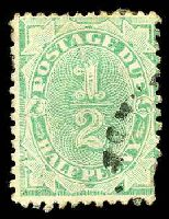 Lot 655:1902-04 Design Completed Wmk Crown/NSW BW #D14 ½d emerald, P11, Cat $375, torn BRC.