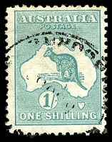 Lot 199:1/- Emerald BW #34.
