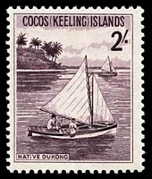 Lot 20169:1963 Pictorials SG #5 2/- Dukong (sail boat).