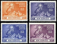 Lot 3987:1949 UPU SG #F77-80 set of 4.