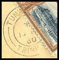Lot 4469 [1 of 2]:Tunapuna: double-circle 'TUNAPUNA/*/16AU/60/TRINIDAD
