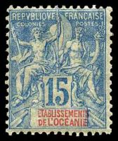 Lot 3753:1892 Peace & Commerce SG #6 15c blue, Cat £19, some gum creasing.
