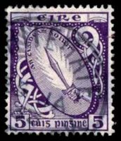 Lot 24507:1922-34 Wmk S in E SG #78 5d deep violet.